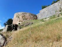 Murs antiques de forteresse dans les Frances Photo libre de droits