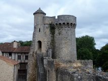 Murs antiques de forteresse dans les Frances Photos libres de droits