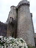 Murs antiques de forteresse dans les Frances Images libres de droits