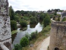 Murs antiques de forteresse dans les Frances Photographie stock libre de droits
