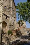 Murs antiques de ville d'Altomonte Photographie stock libre de droits