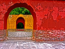 murs colorés antiques Images stock
