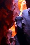 Murs colorés de gorge d'antilope photographie stock libre de droits