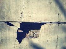 Murs criqués Images libres de droits