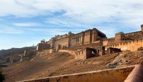 Murs d'Amber Palace, une ville état près de Jaipur, Ràjasthàn, Inde Images libres de droits