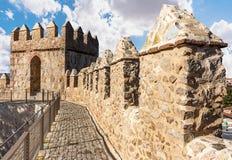 Murs d'Avila, site de patrimoine mondial en Espagne photo libre de droits