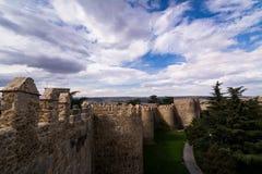 Murs d'Avila, ville enrichie en Espagne Photo stock