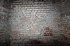 Murs d'une salle de brique dans le fort Sumter photographie stock
