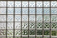 Murs de bloc en verre Photo libre de droits