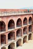 Murs de briques à l'intérieur de point San Francisco de fort Images stock