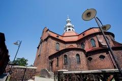 Murs de briques d'église catholique Images libres de droits
