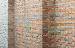 Murs de briques et coins image libre de droits