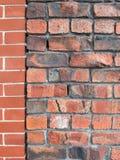 Murs de briques de intersection Image libre de droits