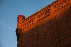 Murs de briques rouges historiques Photos libres de droits