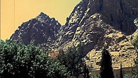 Murs de Catherine Monastery de saint de Sinai clips vidéos