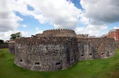 Murs de château d'affaire Image libre de droits