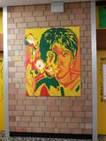 Murs de couloir de l'école Photographie stock libre de droits
