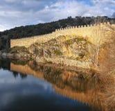Murs de del Lozoya, château de Buitrago à la Communauté de Madrid Image libre de droits