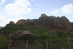 Murs de fort de Badami, sud, Badami, Karnataka Photographie stock