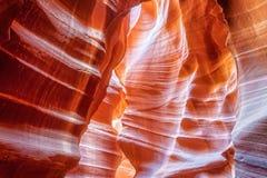 Murs de grès au canyon d'antilope Image stock