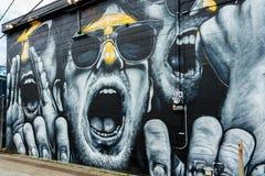 Murs de graffiti de la Nouvelle-Orléans photos stock