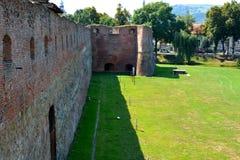 Murs de la forteresse de Fagaras, comté de Brasov Photo libre de droits