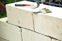 Murs de maçonnerie de béton aéré Photo libre de droits
