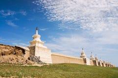 Murs de monastère d'Erdene Zuu dans la ville antique de Kharhorin, Mongolie Photo stock