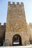 Murs de Montblanc enrichi, Catalogne. Images stock