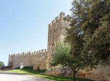 Murs de Montblanc enrichi, Catalogne. Photo stock