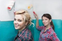 Murs de peinture d'ami Photo libre de droits