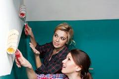 Murs de peinture d'ami Images libres de droits
