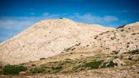 Murs de pierres sèches, île de PAG Photographie stock libre de droits