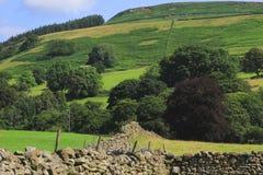 Murs de pierres sèches et champs images libres de droits