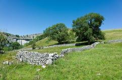 Murs de pierres sèches - vallées de Yorkshire, Angleterre Image libre de droits