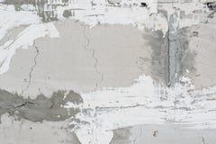 Murs de plâtre, texture concrète grise Fond grunge vide Images libres de droits