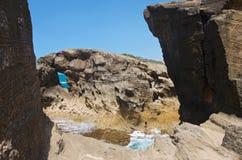 Murs de roche et formations de Cueva Del Indio Images libres de droits