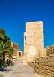 Murs de Santa Barbara Castle dans Alicante, Espagne Photo stock