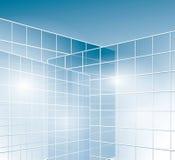 Murs de verre des bâtiments - fenêtres illustration stock