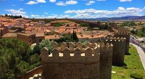 Murs de ville d'Avila, Espagne photographie stock