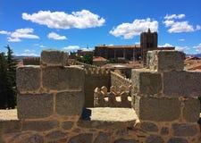 Murs de ville d'Avila, Espagne photographie stock libre de droits