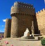 Murs de ville d'Avila, Espagne photos libres de droits