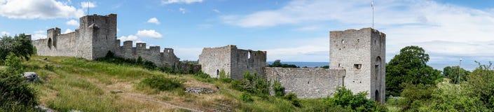 Murs de ville de Visby, Suède Image libre de droits