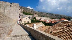 Murs de ville de Dubrovnik Images stock
