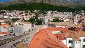 Murs de ville de Dubrovnik Image stock