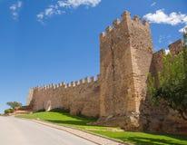 Murs de ville médiévale de Montblanc Photographie stock