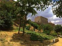 Murs de ville de Toledo, Espagne photos libres de droits