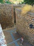 Murs de ville de Toledo, Espagne images stock