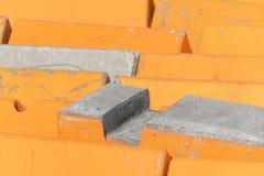 Murs en béton pour empêcher le terrorisme véhiculaire photographie stock libre de droits