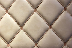 Murs en cuir d'or luxueux Photos libres de droits
